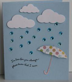 Memory Box Die Umbrella Card Idea