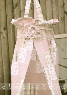 Fabric Canopy, Photo Prop, Easter or Spring, Vintage Inspired Patchwork, Newborn Girl $40
