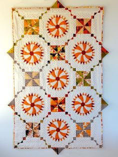 """Vintage Wagon Wheels"" (made from antique blocks and vintage fabrics) by Chris Boersma Smith at Reap As You Sew"