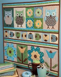 Owl Always Love You Quilt Samplers - Owls are one of the cutest trends going on right now, and it's not hard to see why with these fusible applique quilt designs. They make the perfect wall hanging quilt pattern for a bedroom. So cute!