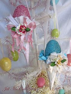 Feathers & Flight: ~ Victorian Easter Cones and Eggs~