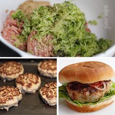 Turkey Burgers with Zucchini #skinny #healthy food
