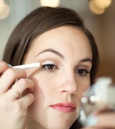 Cover your eyelid with white liner to make any eyeshadow shade pop.