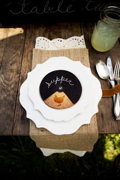 Place Setting ~ too cute!, #rustic