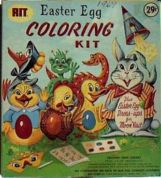 Vintage Easter Egg Coloring Kit