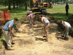 Archaeologists probe for Civil War Hampton's pioneering contraband slave camp. -- Mark St. John Erickson
