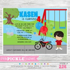 Park Personalized Party Invitation