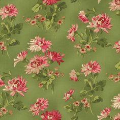 Incarnadine 1993-003 Green Lg Floral by Robyn Pandolph for RJR