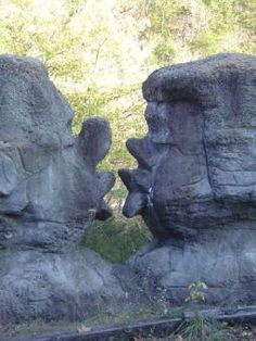 Kissing Rocks - Dogpatch USA, have pics of me in front of these kissing rocks a kid!
