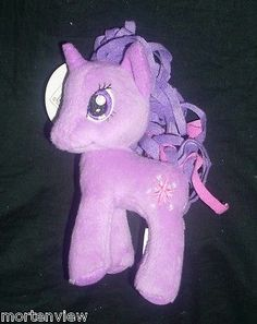 "New 6"" My Little Pony Purple Princess Unicorn Stuffed Animal Plush Horse Toy 