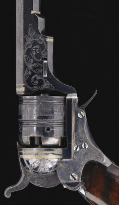 Extraordinary Cased Engraved Colt Paterson No.2 Belt Model Percussion Revolver U.S.A, 19th century.