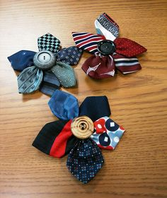 Necktie Pins by Ursula and Olive, via Flickr