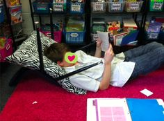 Easy library nooks using pillows