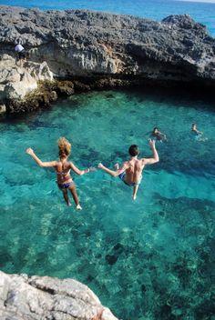 honeymoon, water play, the ocean, cliff jump, leap of faith, kauai hawaii, travel, place, bucket lists