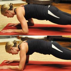 Once-a-Week workout Abs: Rocking Plank