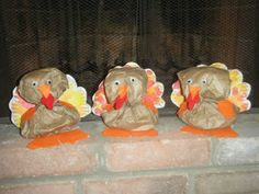 paper bag turkeys! - Pinned by @PediaStaff – Please visit http://ht.ly/63sNt for all (hundreds of) our pediatric therapy pins