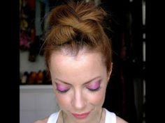 Julia Petit Passo a Passo rosa, roxo e pêssego Cabelo