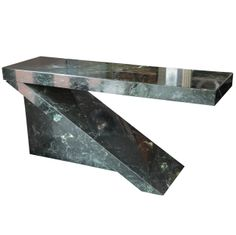 Green Marble Cantilevered Console