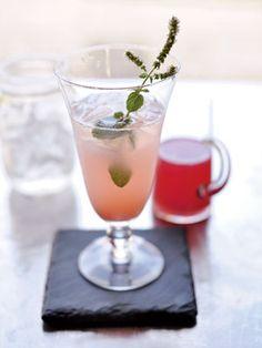 Rhubarb mint soda