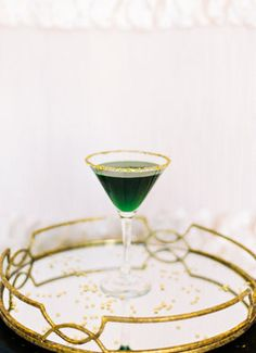 Emerald green cocktail