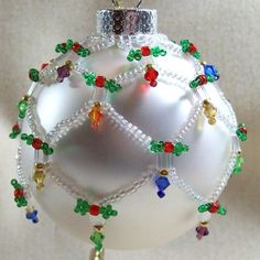 Holiday Lights Ornament Cover Beading Tutorial