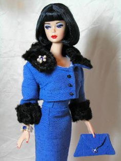 vintage barbie mode barbi, vintag barbi, barbi krazi, barbi doll, barbi blue