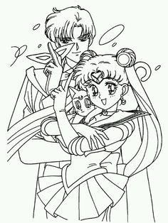 sailor moon and tuxedo mask coloring pages  ... sailor moon colorin...