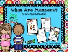 """Character Education - """"What Are Manners"""" Emergent Reader {K/1} $"""