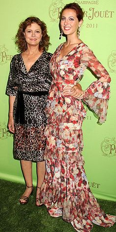 Susan Sarandon with her beautiful daughter Eva.