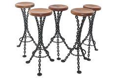 French Iron & Chain Barstools