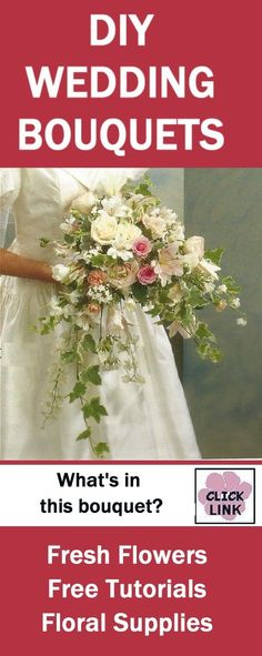 http://www.wedding-flowers-and-reception-ideas.com/how-to-make-a-rose-and-ivy-wedding-bouquet.html - Roses, freesia and ivy make a beautiful wedding bouquet.  Check out free step by step flower tutorials.