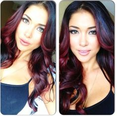 Red Ombre yes please