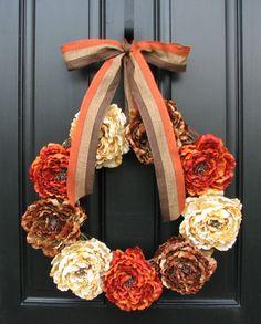 Fall Wreaths Autumn Wreaths Fall Decor Front Door by twoinspireyou