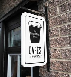 Smallest cafe place in North America, visual identity by Gabriel Lefebvre