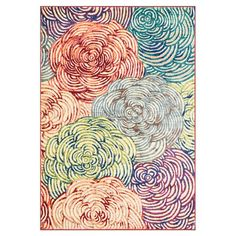 Stylishly anchor your living room or master suite with this delightful rug, showcasing a multicolor floral motif.  Product: Rug
