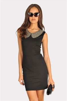 Baby's Bib Dress - Black