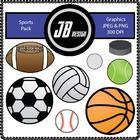 Sports Pack Includes: Football Ball Soccer Ball Baseball Volleyball Basketball Golf Ball Tennis Ball Hockey Puck  Get the Sport Black Line Pack Her...