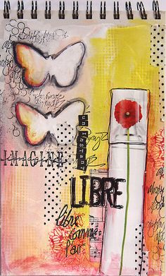 Art journaling - it's about what you love