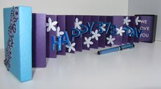 HAPPY 37th Birthday Wishes Pop Up Accordion Book Card by BoldFolds, $50.00