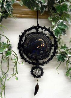 Morrigan / Morgana Crow Goddess  Pentacle by PositivelyPagan, £14.95