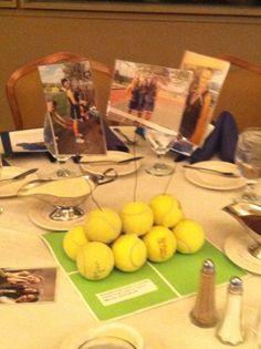 Centerpiece for tennis banquet