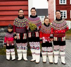 A wedding party in traditional Greenlandic costumes - Photographed by Jan Søndergaard for Monocle