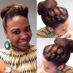 Beautiful Natural Updo ♥