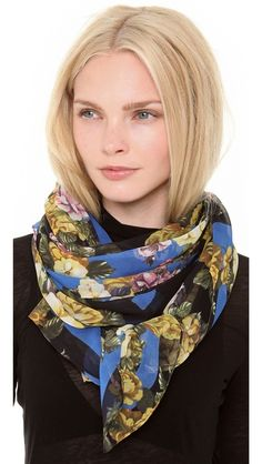 This gorgeous McQ scarf will add a pop of color to any dreary winter look, and, of course, keep me warm too! alexander mcqueen, winter looks, mcq scarf, fallwint 2013, fall fashion, style file