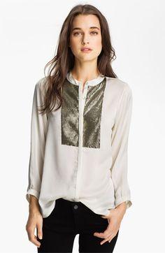 Patterson J. Kincaid 'Mercury' Embellished Tux Shirt | Nordstrom