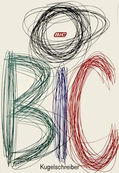 Poster for Bic Pens by Ruedi Kulling, 1962