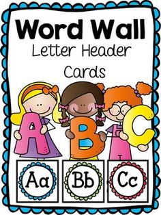 Word Wall Letter Header Cards FREEBIE!