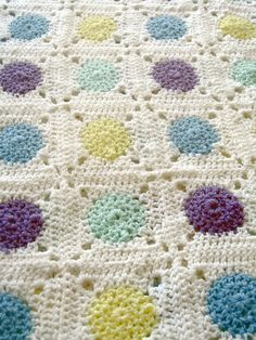 Baby Dots Blanket by Lion Brand Yarn