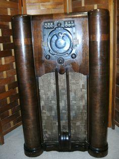 1939 Zenith 9 s 365 Shutter Dial Tube Radio Stars and Bars