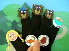 Goldilocks and the Three Bears Puppets Glove